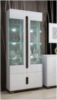 Lorenz High Gloss White Sideboard TV Unit Tall Display ...