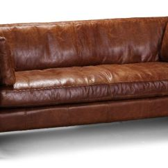 Vintage Leather Sofa Company Black Faux Bed With Storage Tan 3 Seater Barkby From Uk In
