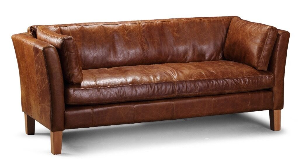 the leather sofa company uk table behind tan 3 seater barkby from vintage in