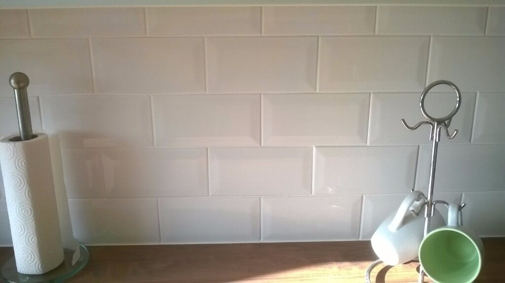 White Kitchen Tiles B Q