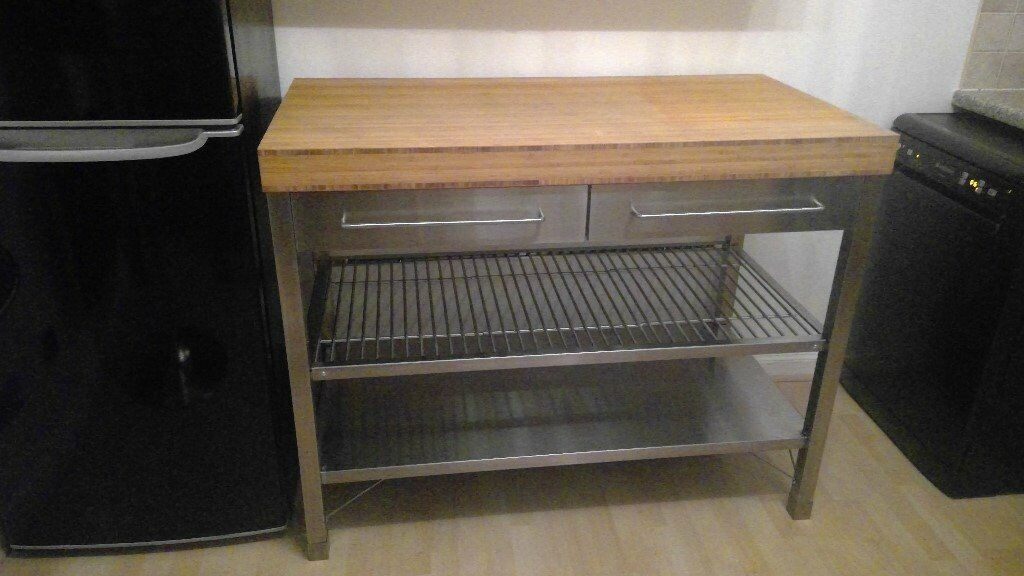 IKEA Rimforsa Kitchen Island  Work Bench Stainless Steel