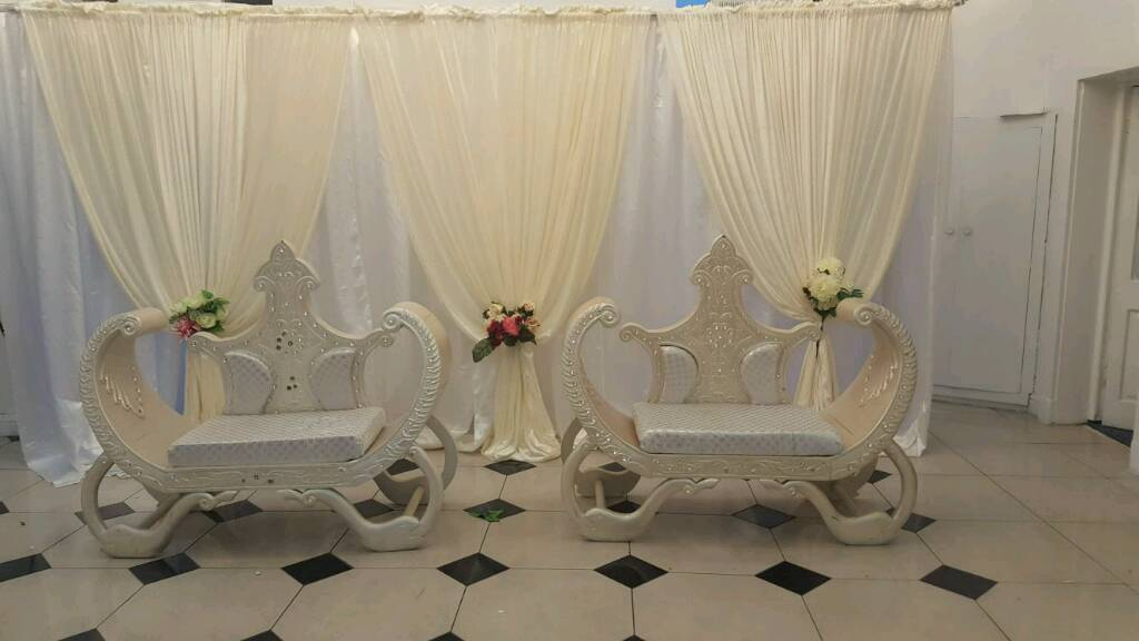 chair cover hire yorkshire wrought iron rocking chairs asian wedding stages mehndi covers walkways centrepieces for in leeds west gumtree