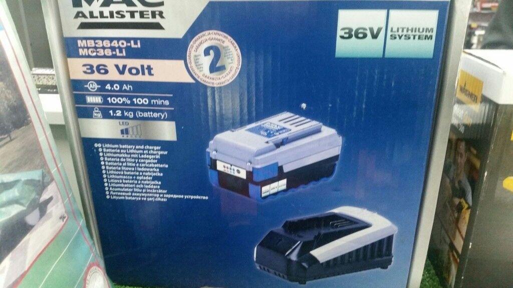 New Mac Allister 36v Li Ion Battery Amp Faster Charger For