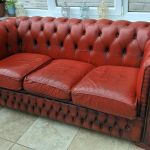 Red Chesterfield 3 Seater Sofa Genuine Vintage Original House Clearance In Morpeth Northumberland Gumtree