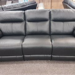 Sofa World Recliner Chairs Grey Leather With Nailhead Trim Furniture Village Of Touch 3 Seater Can Deliver