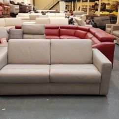 Natuzzi Arona 2 Seater Leather Sofa Bed Best Sleep Www Allaboutyouth Net Ex Display Grey In Deeside