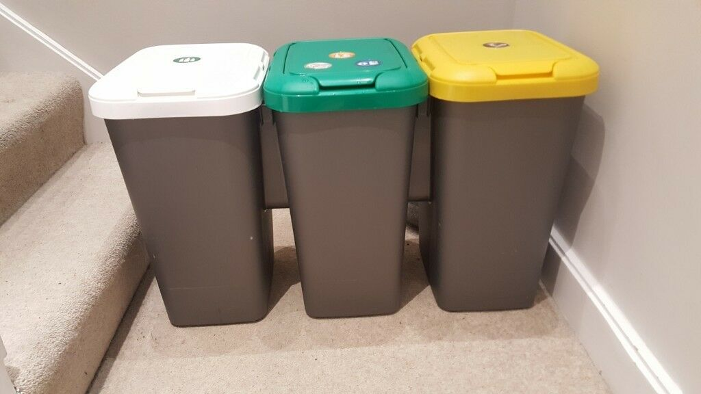 kitchen recycling bins custom countertops tontarelli set of currently on sale at argos for 25 nearly new