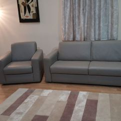 Natuzzi Arona 2 Seater Leather Sofa Bed Stylish Beds Nz Review Ex Display Grey 5 And Armchair