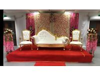 chair cover hire inverclyde foldable papasan in scotland other wedding services gumtree asian stage mendhi stages covers house lighting etc