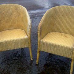 Bedroom Chair On Gumtree Patio Repair Parts Two Original Matching Lloyd Loom Chairs In Bonnybridge