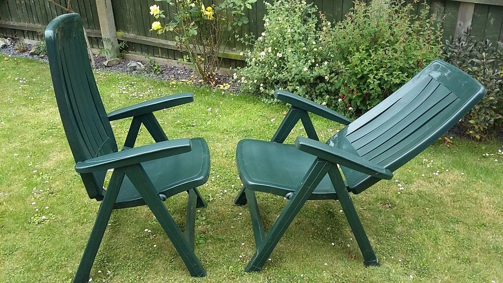 Plastic Reclining Garden Chairs  in Spalding