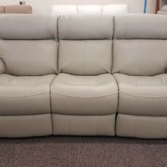 Electric Recliner Sofa Not Working Metal Table Canada Furniture Village Relax Station Revive 3 Seater Grey Leather Can Deliver