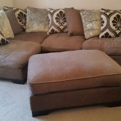 Corner Sofa Dfs Martinez Upholstery South London Brown And Footstool In Norwich Norfolk