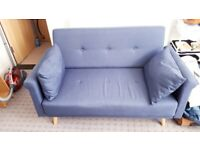 argos ava fabric sofa review custom covers dubai sofas armchairs couches suites for sale gumtree home evie 2 seater blue