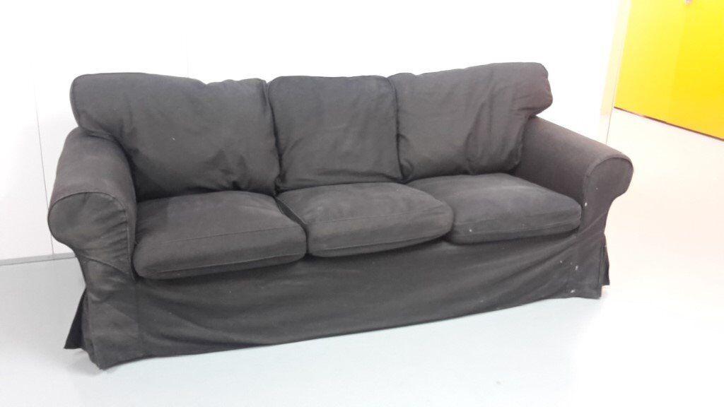 Shop online for the best replacement ikea ektorp sofa covers/ektorp couch covers. Ikea Ektorp 3-seat sofa in Nordvalla dark grey | in Bosham ...