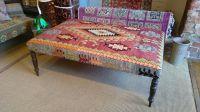 Turkish kilim ottoman footstool coffee table upholstered ...
