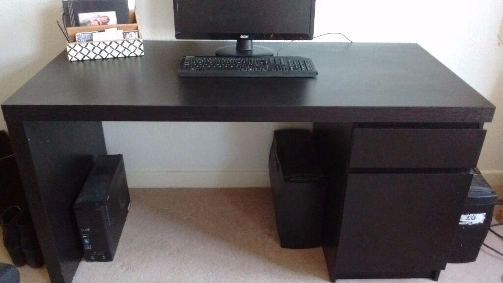 Bureau Malm Ikea malm bureau avec tablette coulissante