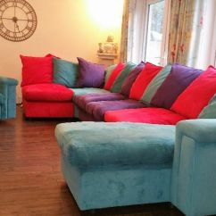 Corner Sofas Glasgow Gumtree Contemporary Leather Sofa And Chair Dfs Skittles Large Modular Suite With Armchair ...