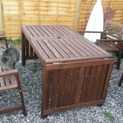 Cast Iron Table And Chairs Gumtree Unusual Sofas Ikea Applaro Garden Furniture (5 Pieces) | In Gatley, Manchester