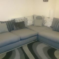 Large Corner Sofa In Small Living Room Wall Dfs Charcoal Combination Colour Almost New Condition
