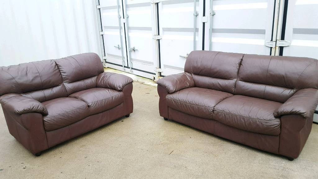 sofa shops glasgow city centre filling replacement 3 2 brown leather sofas in gumtree nigel