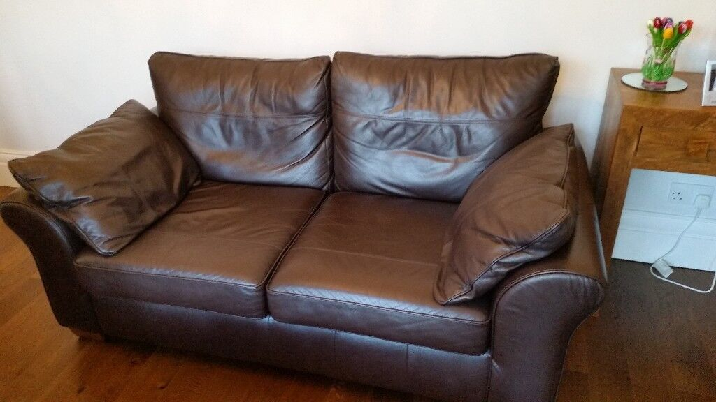 Nicollo hunston 2+3 seater simulated leather sofa. 2 seater brown leather sofa (Next) 1 of 2 | in Hull, East ...