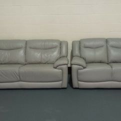 Modena 2 Seater Reclining Leather Sofa Multiyork Verona Covers Ex Display Grey Standard 3 Sofas In
