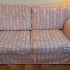 Chair Covers In Ikea Better Homes And Gardens Cushions Ektorp 2 Seat Sofa Mobacka Beige/red Stripe (covers Only) Great Condition | ...