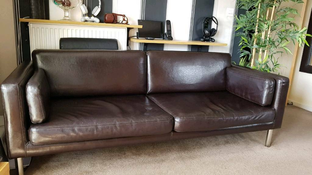 ikea sater sofa uk how to decorate a with throw pillows 100 leather great condition in bradley
