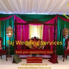 Chair Covers Wedding London Foam Bed Asian Indian Mehndi Stages Backdrops Decor Lights Flower Wall In Harrow Gumtree