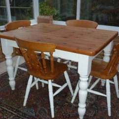 Pine Kitchen Table Sherwin Williams Paint For Cabinets Solid Antique Dining 4 Chairs In Westward Ho