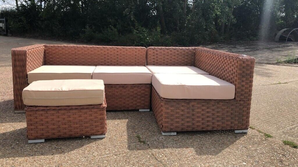 Buy cane sofa set with table online at a discounted price from shopclues.com. HALF PRICE AND BRAND NEW Rattan sofa, foot stool, table ...