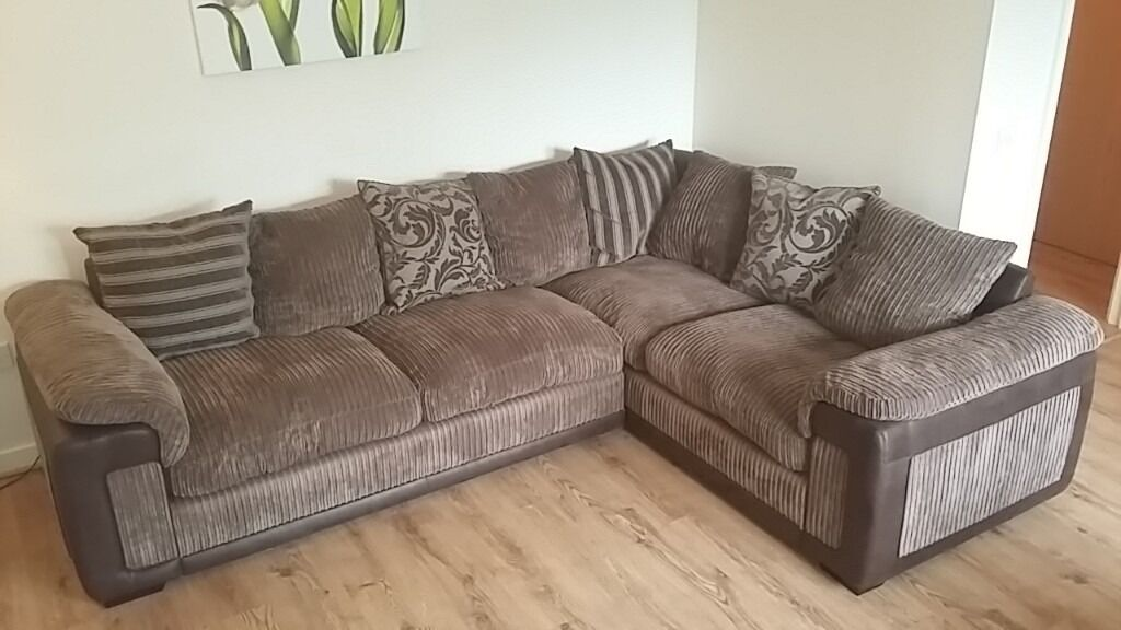 cheap three seater sofa refurbished beds dfs chalice brown left facing corner sofa, swivel chair ...