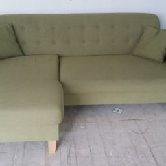 Really Small Corner Sofas Charlie Sofa Charcoal New Graded Chaise Apple Green Fabric Free Local Delivery