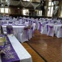 Chair Covers Hire Bolton Wooden Slat Chairs Asian Wedding Stages Floral Mehndi House Lighting 50p Black White Or Ivory