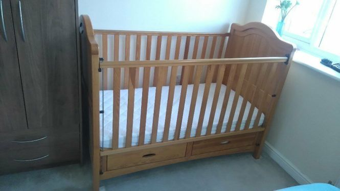 Mamas And Papas Ophelia Cot Bed Including Mattress Some Extras 100