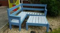 Wooden corner bench and table | in Swansea | Gumtree