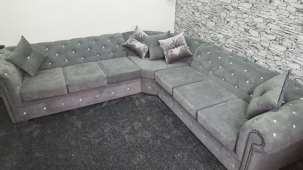 chesterfield sectional sofa suppliers flexform sofas 5 seater corner in fabric any colour size read description