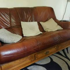 Wood Frame Leather Sofas Sofa With Movable Chaise Wooden From Scs In Chesterfield