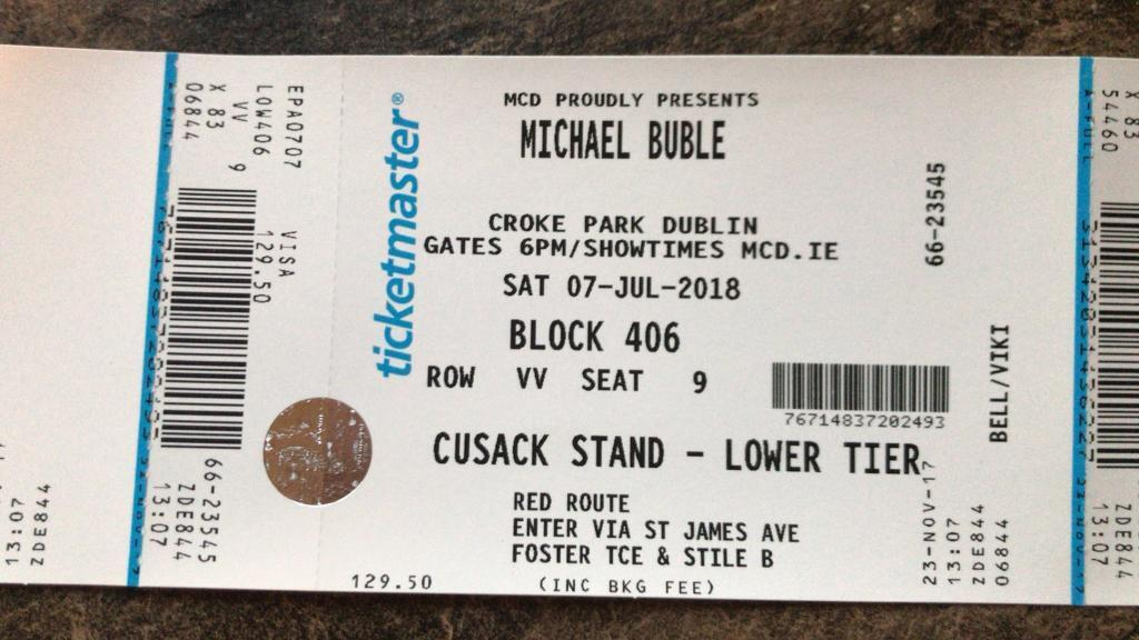 michael buble tickets in