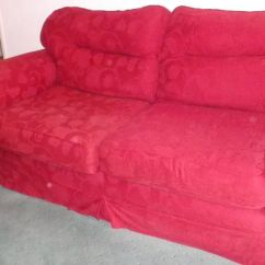 Cheap Three Seater Sofa Flexsteel Styles Piece Suite, Red Self Patterned Fabric, Washable ...