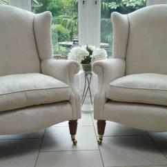 Grey Leather Corner Sofa Uk Black With Nailhead Trim Pair Of Laura Ashley Southwold Wingback Ashino Natural ...