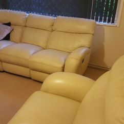 Recliner Chairs Gumtree Gaming Race Chair Absolute Bargain!! Genuine Leather La-z-boy Reclining 3 Piece Suite | In Southampton, Hampshire ...