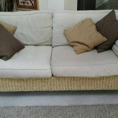 Second Hand Leather Sofa For Sale Brown With Cream Cushions M&s Seagrass Conservatory Furniture | In Nuneaton ...