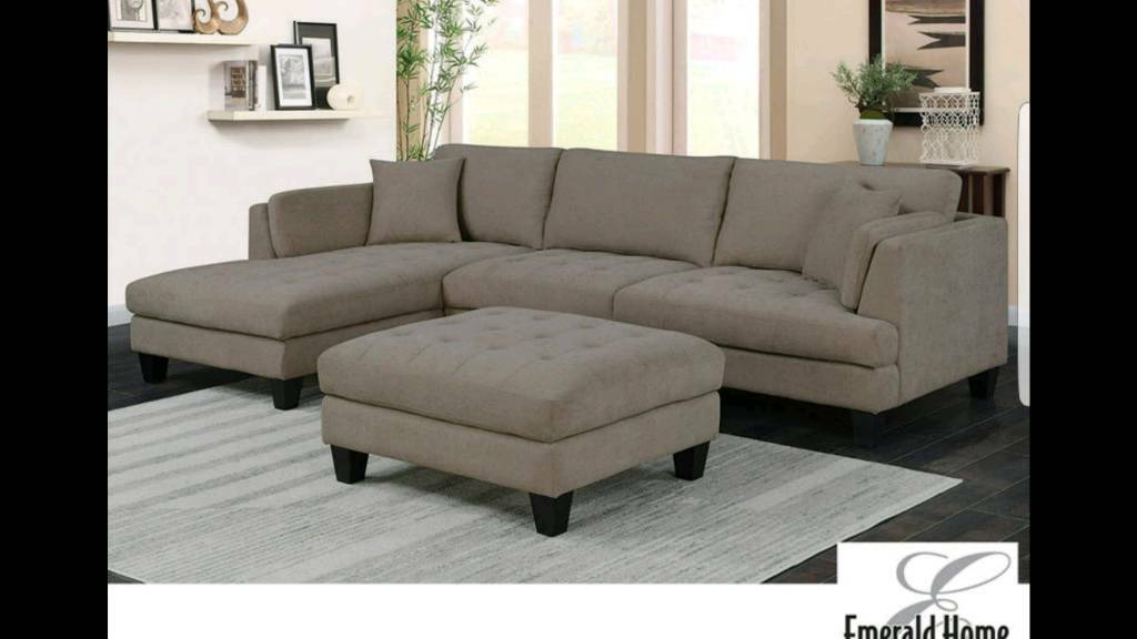 chaise sofa with ottoman costco royal chesterfield malaysia new sectional including 2 accent pillows rrp 1179