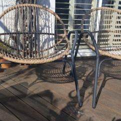 All Weather Garden Chair Purple Ball Chairs X 2 Rattan Comfy In Rottingdean East
