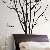 Large Tree Trunk Birds Wall Art / Wall Stickers / Wall ...