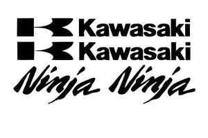 Kawasaki Decal Black Sticker Motorcycle ninja 250r 650 300