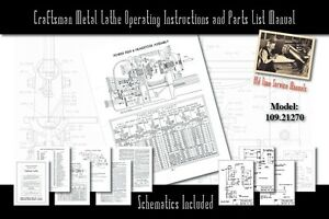 Craftsman-6-Metal-Lathe-Operating-Instructions-and-Parts