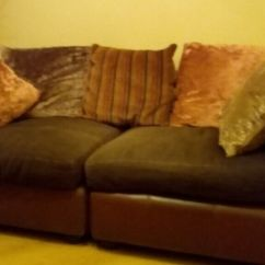 Material And Leather Sofa Square Arm Sofas Brown Fabric In Eaglescliffe County Durham Gumtree